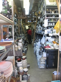 Inside a pottery shop along Kappabashi Dori