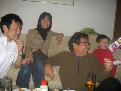Shin, Takiko, Dad, and Kenji
